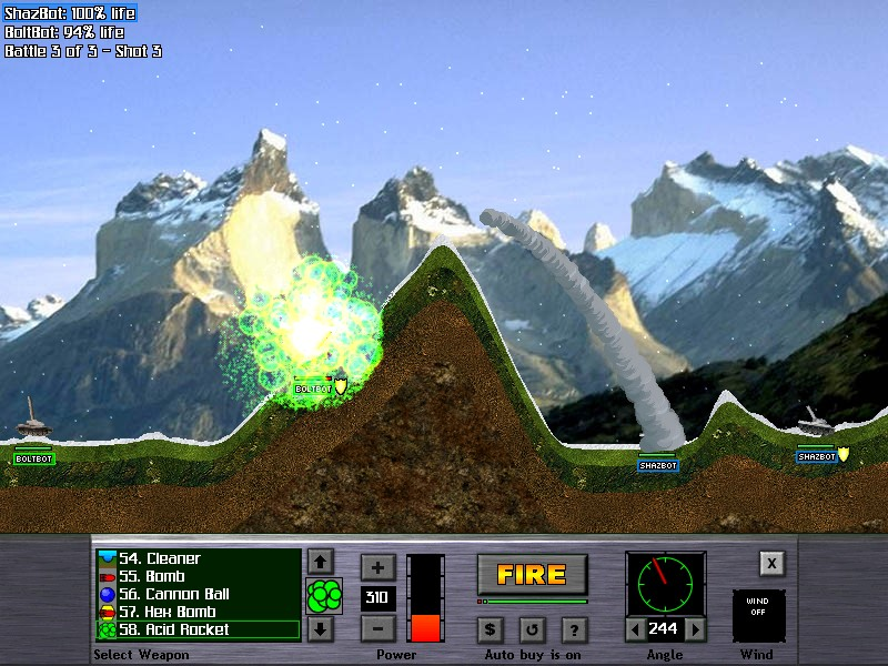 Click to view Atomic Cannon 3.0 screenshot