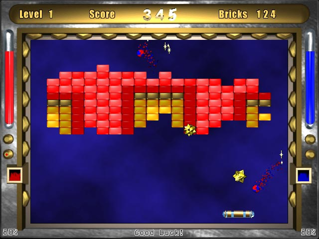 Breakout Arkanoid Ball and Paddle Arcade Game - Electrobalz