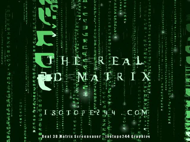 Green matrix glyphs fall on your screen in a 3D world as seen in the hit movie.