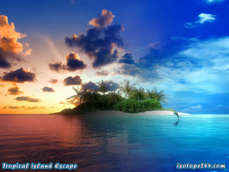 tropical island escape animated 3d screensaver shot5